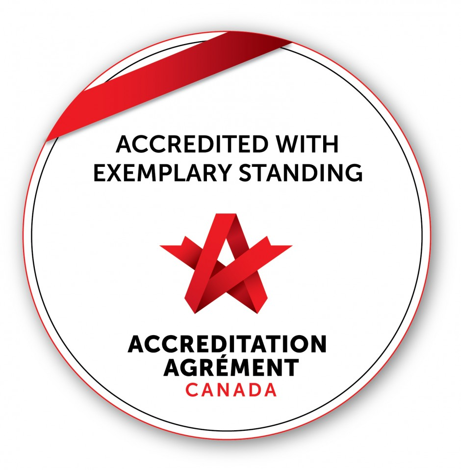 Accreditation Canada seal of Accredited with Exemplary Standing